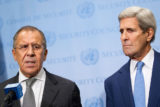 Secretary of State John Kerry (right) and Russian Foreign Minister Sergey Lavrov. (U.N. photo)