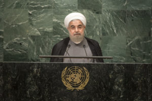 Hassan Rouhani, President of the Islamic Republic of Iran, addresses the general debate of the General Assembly's seventy-first session. 22 September 2016 (UN Photo)