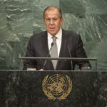 Sergey V. Lavrov, Minister for Foreign Affairs of the Russian Federation, addresses the general debate of the General Assembly's seventy-first session. 23 September 2016 (UN Photo)