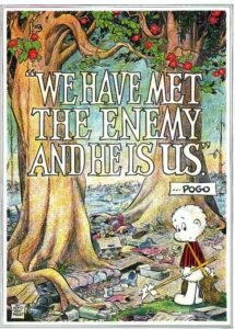 A poster that comic artist Walt Kelly prepared for the  first Earth Day in 1970.