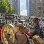 Activists gather in Seattle to protest the Dakota Access Pipeline, September 16, 2016. (John Duffy Flickr)