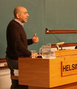 Palestinian activist Ali Abunimah in Helsinki on October 14, 2011. (Flickr Veera Vehkasalo)