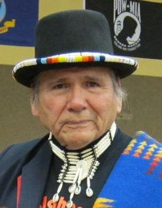 Native American activist Dennis Banks being honored at a ceremony in 2013. (Wikipedia)