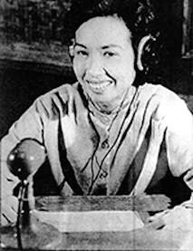 "'Hanoi Hannah"" broadcasting during the Vietnam War."