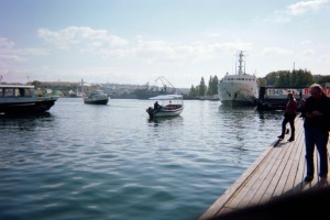 Dock at Naval Base in Sevastopol, Crimea (Photo by Natylie S. Baldwin)