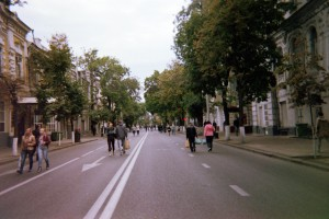 Thoroughfare for pedestrians in downtown Krasnodar (Photo by Natylie S. Baldwin)