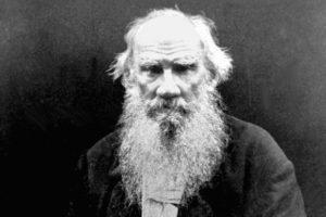 Russian novelist Leo Tolstoy.