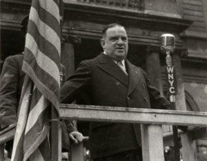 New York City's three-term Mayor Fiorello H. LaGuardia.