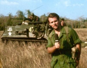 ABC News correspondent Don North in May 1967 with the U.S. Army on Operation Junction City in Vietnam.