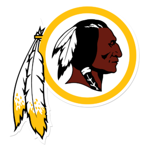 The Washington Redskins' logo.