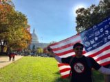 People celebrated the defeat of the TPP at a rally on November 17, 2016. (Photo by Chelsea Gilmour)