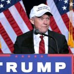 Jeff Sessions supports Donald Trump at a rally. (Wikipedia)