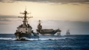 Warships of the U.S. Navy. (Photo credit: U.S. Navy)