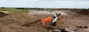The Dakota Access Pipeline (under construction) near Campbell, South Dakota. July 1, 2016. (Flickr Lars Plougmann)