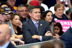 Retired U.S. Army lieutenant general Michael Flynn at a campaign rally for Donald Trump at the Phoenix Convention Center in Phoenix, Arizona. Oct. 29, 2016. (Flickr Gage Skidmore)