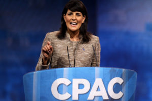 Nikki Haley speaking at the 2013 Conservative Political Action Conference (CPAC) in National Harbor, Maryland. (Flickr Gage Skidmore)