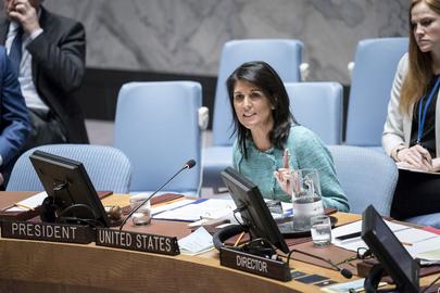Nikki Haley, United States Permanent Representative to the UN (UN Photo)