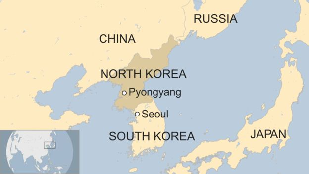 No time for complacency over korea war threat consortiumnews map showing north koreas proximity to japan south korea and china sciox Choice Image