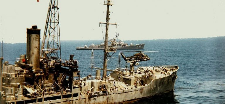 USS Liberty after the attack.