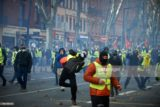 Yellow Vest protests in Toulouse, France, Dec. 2, 2018. (Photo by Alain Pitton/NurPhoto via Getty Images)