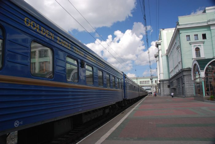 Trans-Siberian Express at Novosibirsk stop. (Vera &