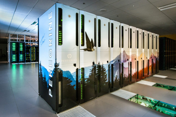 Peregrine, an Energy Department supercomputer capable of 1 million billion calculations per second at National Renewable Energy Laboratory in Golden, Colo. (Department of Energy)
