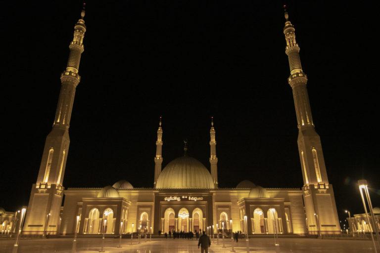 Pompeo visits Al Fattah Al Alim Mosque in Cairo, Jan. 10, 2019. (State Department)