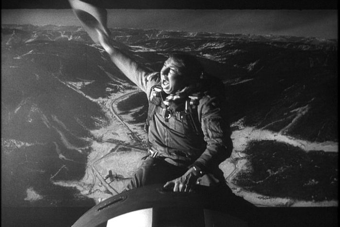 "Major King Kong (Slim Pickens) in ""Dr. Strangelove"" rides the bomb down onto its target. (Insomnia Cured Here via Flickr)"