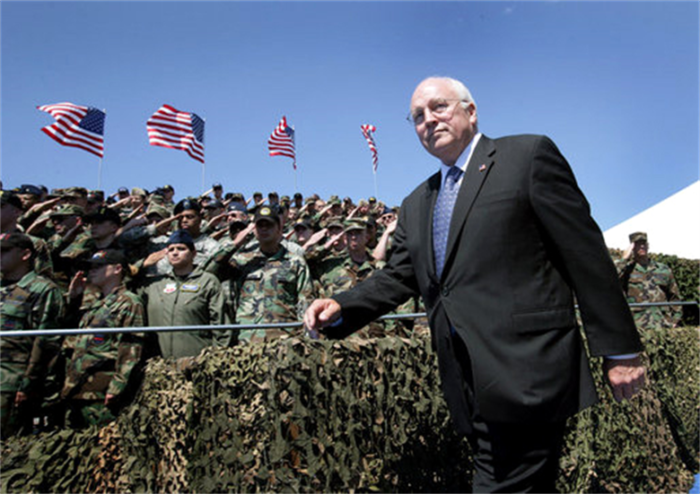 Vice President Dick Cheney, Offutt Air Force Base, Nebraska, August 2006. (White House photo/David Bohrer)
