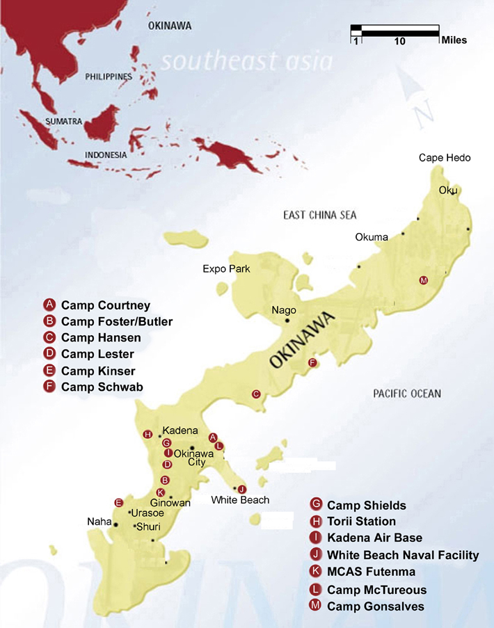Okinawa And The Us Military Link To Pfas Toxins Rootsaction - Map-of-us-air-bases
