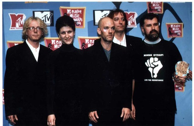 Otpor at the 1998 MTV Europe Music Awards. (Brian Rasic)
