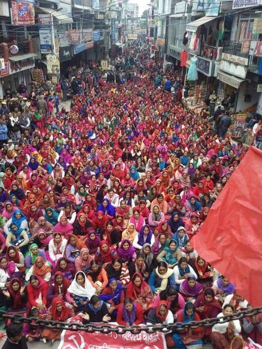 Protesters in Hamirpur, Himachal Pradesh, India. (Rahul)