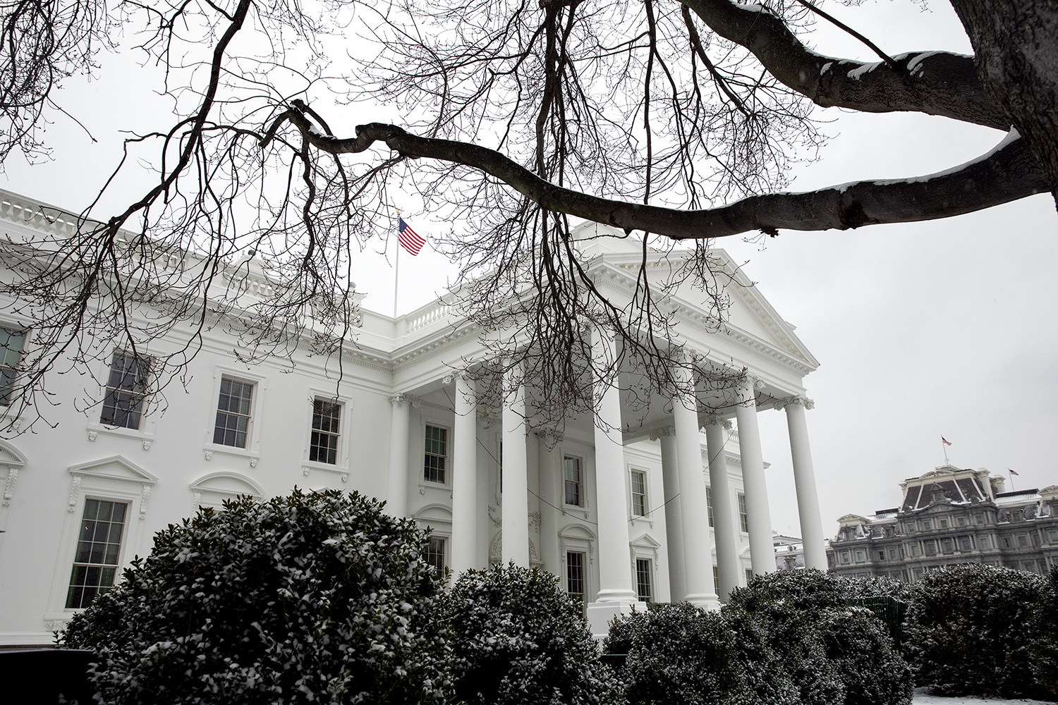 White House in winter, Feb. 1, 2019. (Official White House Photo by Joyce N. Bogosian via Flickr)