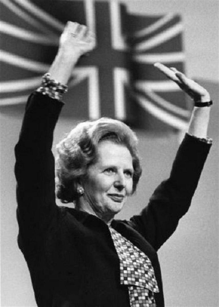 Margaret Thatcher in 1984. (Levan Ramishvili via Flickr)