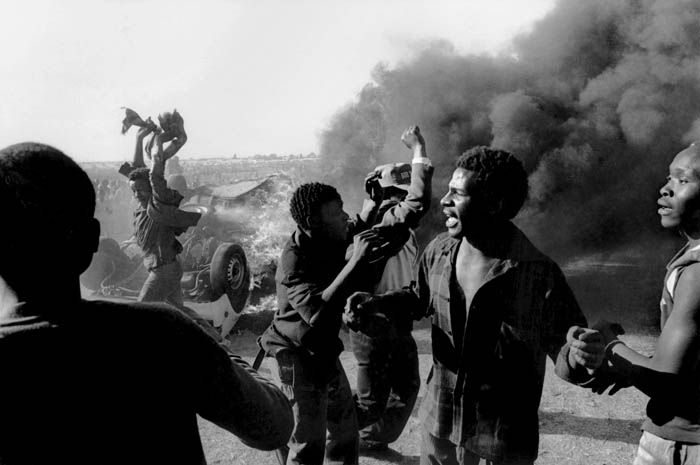 Protests against Apartheid in South Africa, 1980s. (Paul Weinberg via Wikimedia)