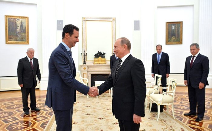 President of Syria Bashar Assad made a working visit to Moscow on Oct. 20, 2015. (The Russian President)