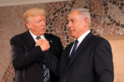 President Trump and Prime Minister Benjamin Netanyahu at the Israel Museum in Jerusalem in 2017. (U.S. Embassy Jerusalem via Flckr)