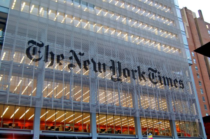 The New York Times Building in Manhattan. (Adam Jones on Flickr)