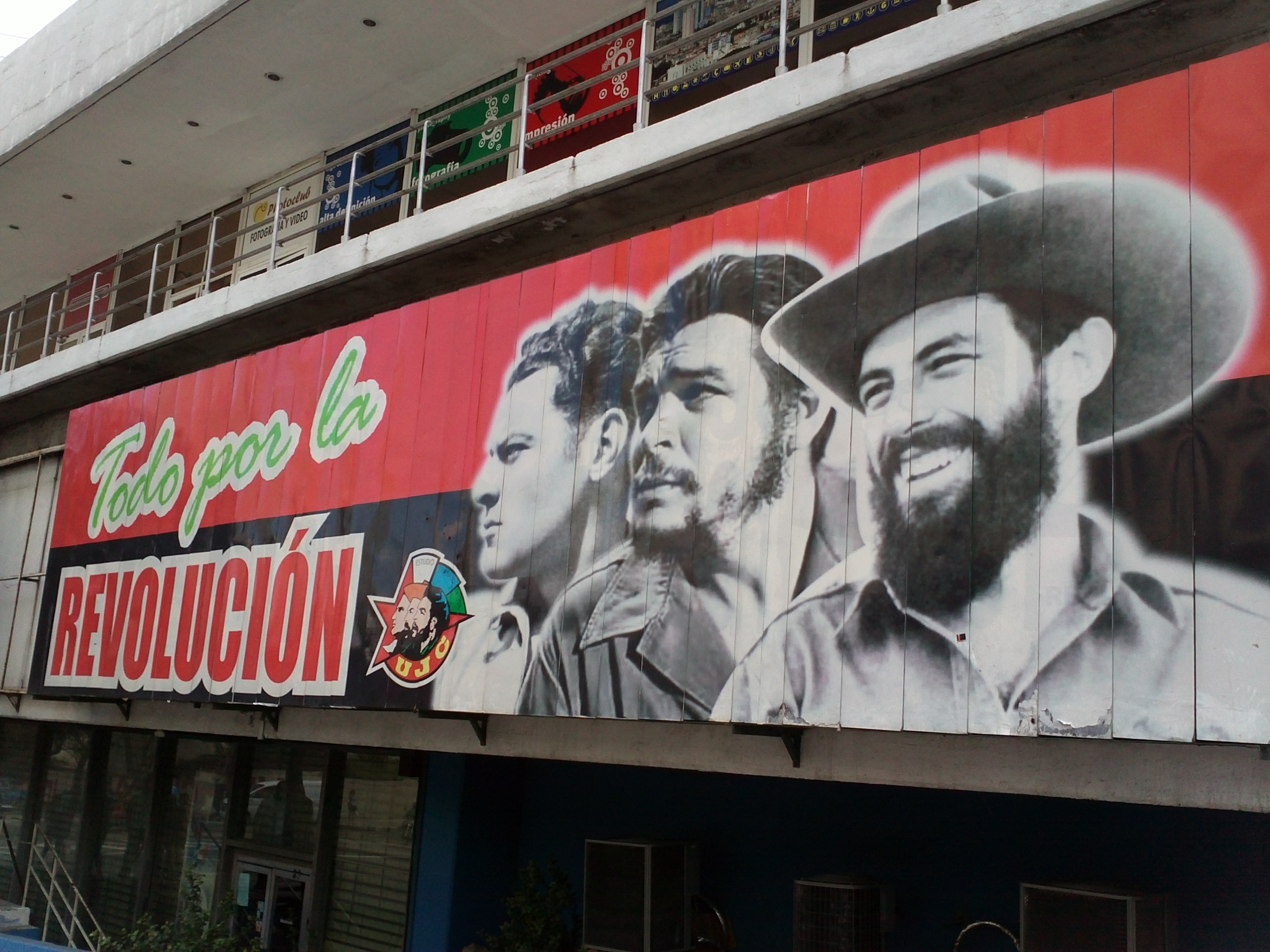 """Everything for the Revolution,"" poster in Havana, 2012 (Yanto Laitano via Wikimedia)"