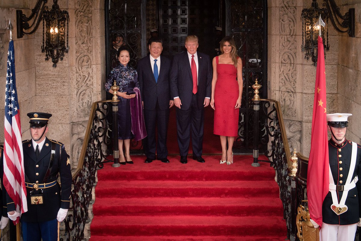 President Trump and Chinese President Xi Jinping with their spouses, April 2017