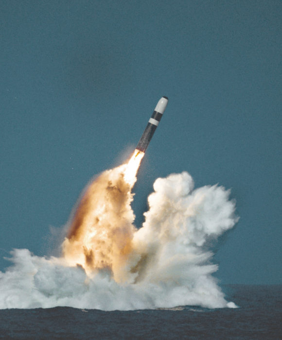 Submarine launch of a Lockheed Trident missile. (Wikimedia)