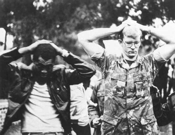 Two American hostages in Iran hostage crisis, Nov. 4, 1979. (Wikimedia)
