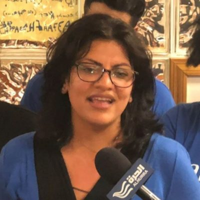 Tlaib during her campaign. (Wikimedia)