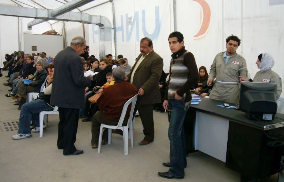 Refugees from Iraq at a Jordan administrative center, February 2012.) (ECHO/D.Cavini via Flickr)