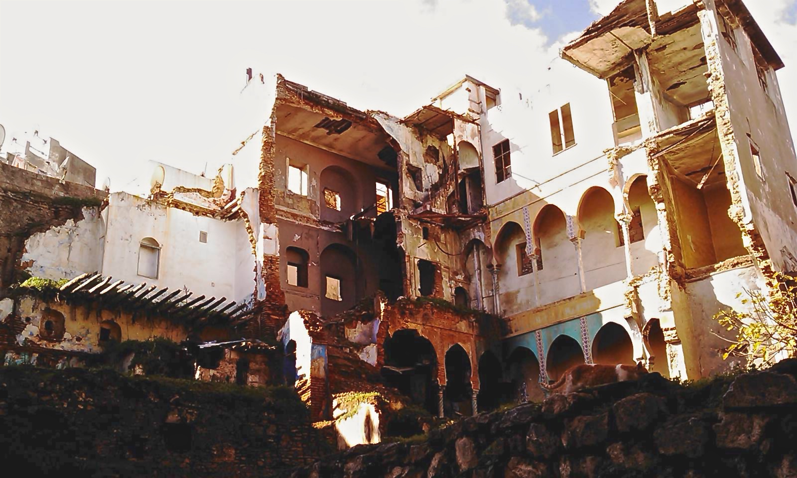 Section of Algerian Casbah after French dynamiting, Oct. 8, 1957. (Wikimedia)
