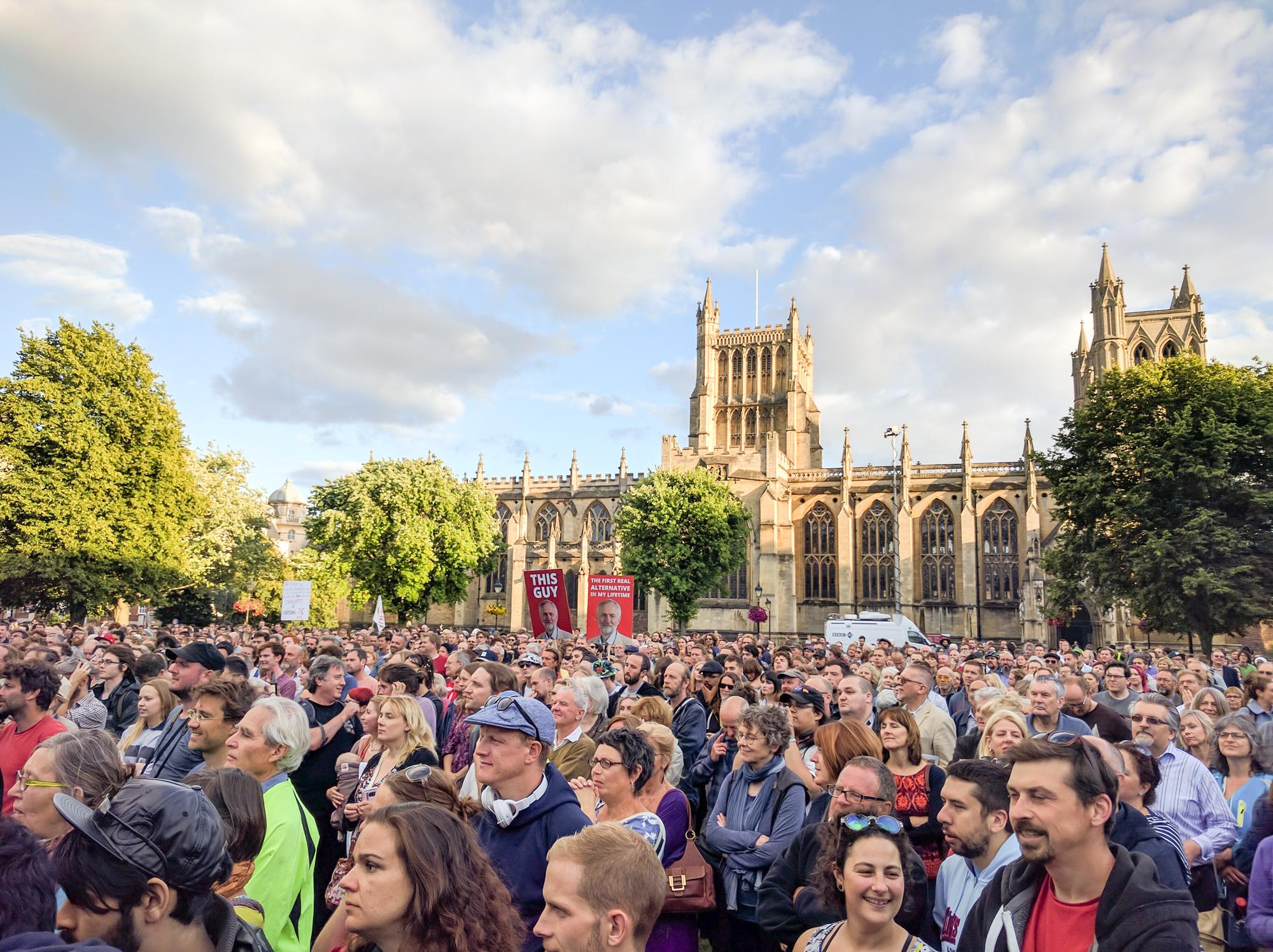 Corbyn rally in Bristol, 2016. (Wikimedia)