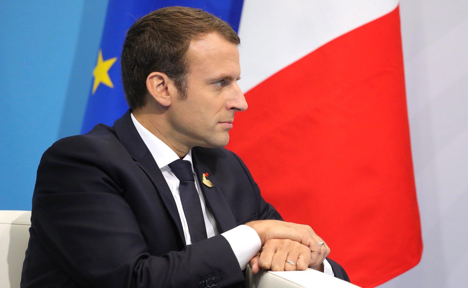 Macron: Outlawing opposition. (President of Russia)