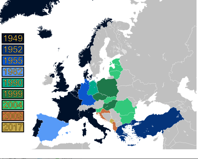 NATO expansion map. (CC BY-SA 3.0 via Wikimedia Commons)