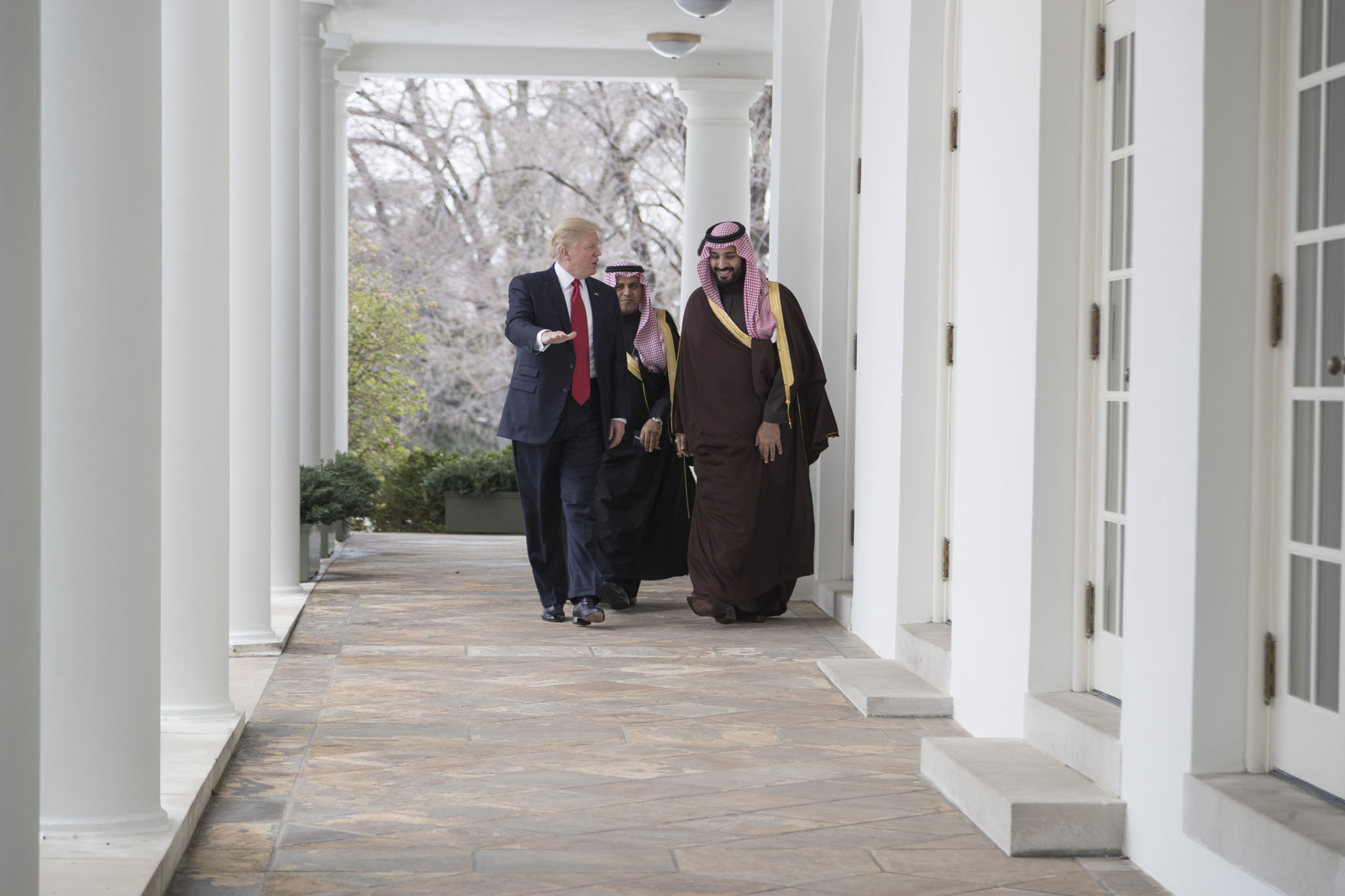 President Donald Trump with MbS in March 2017. (Official White House Photo by Shealah Craighead)