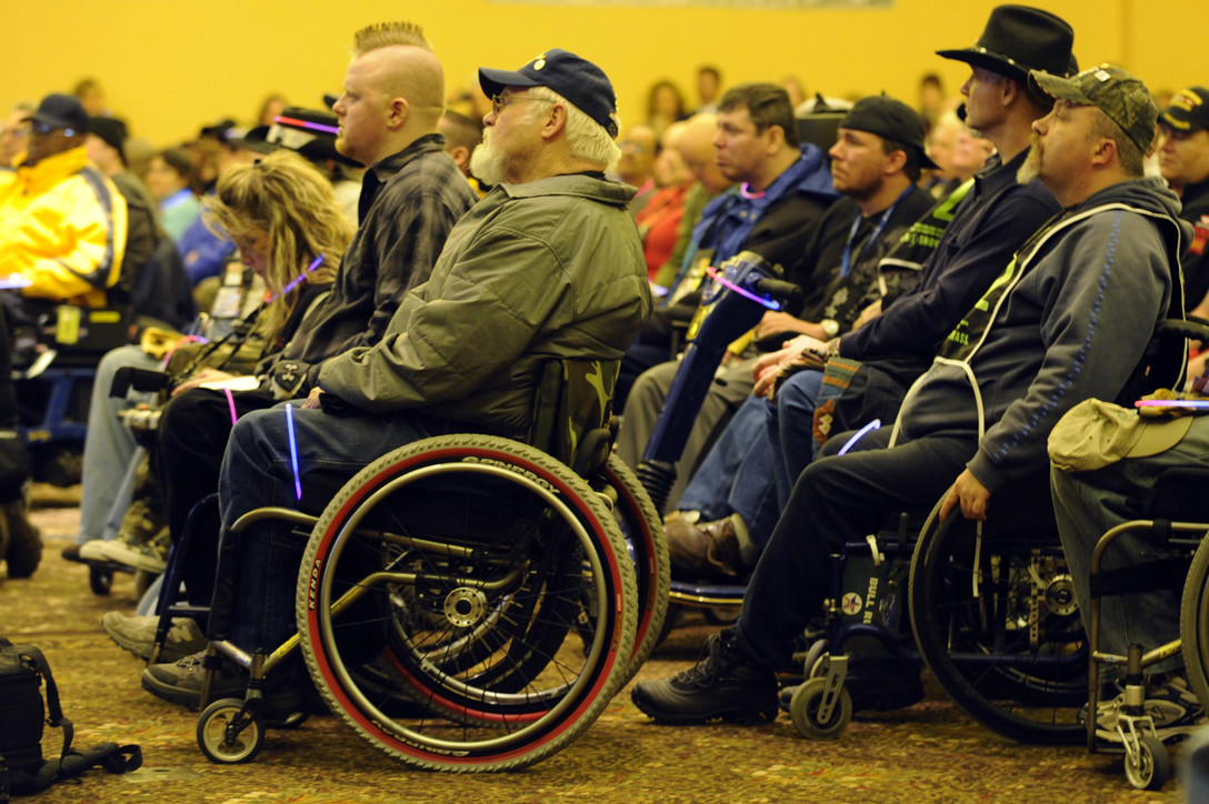 Opening ceremony in 2009 for the 23rd National Disabled American Veterans Winter Sports Clinic in Snowmass Village, Colorado. (U.S. Air Force photo/Staff Sgt. Desiree N. Palacios)